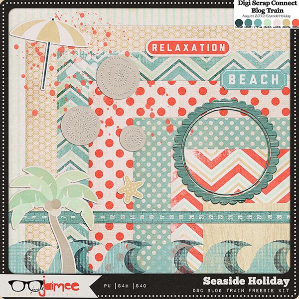 Free Scrapbook Kit Seaside Holiday From Just Jaimee Best Free