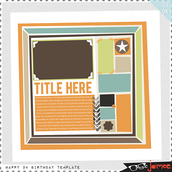 "Free scrapbook layout ""It s my birthday"" from justjaimee"