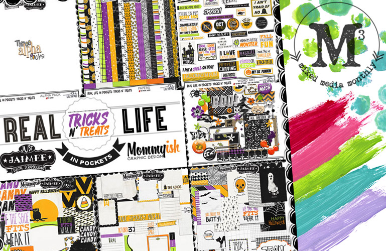 Tricks N' Treats + October Mixed Media Monthly is here!