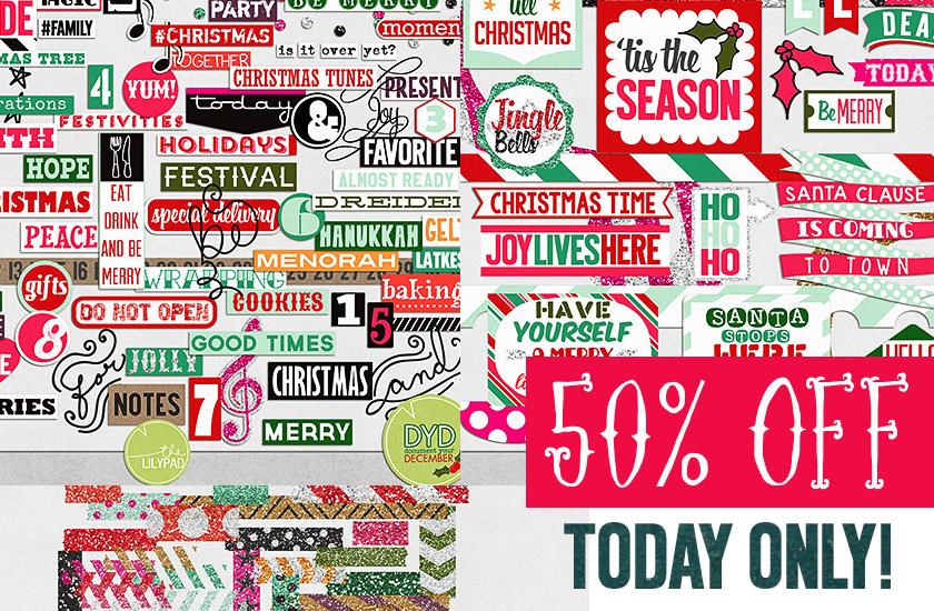 Merry + Bright 50% off today only + sneek peak!
