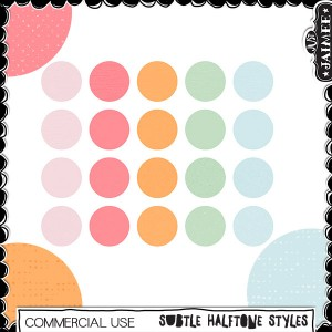 Digital Scrapbooking Commercial Use - Subtle Halftone Textures Styles