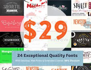 Commercial Use Designer Resource Font Bundle Cheap Deal Save 98%